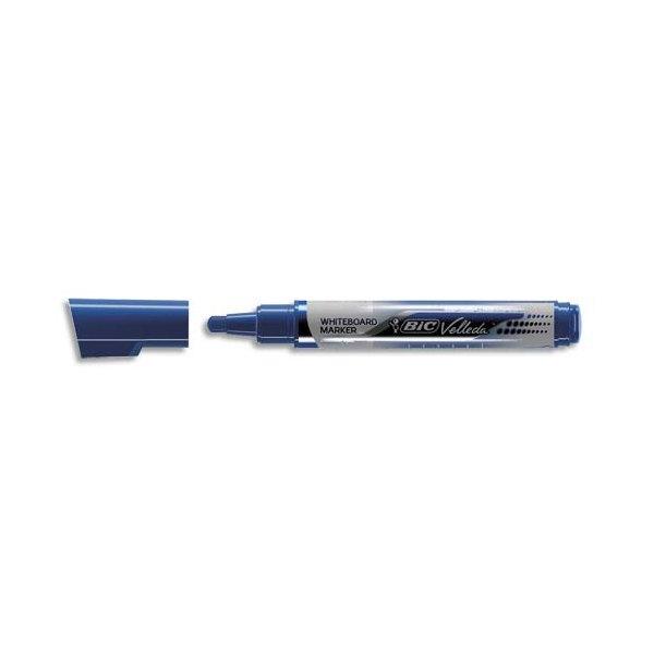 BIC Marqueur effaçable à sec VELLEDA Liquid' ink, encre liquide bleue, pointe ogive large