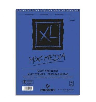 CANSON Album de 15 feuilles de papier dessin MIX MEDIA XL 300g A5