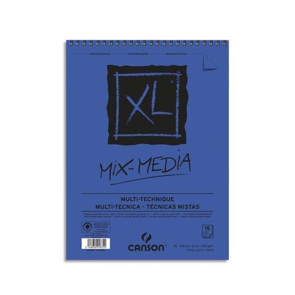 CANSON Album de 15 feuilles de papier dessin MIX MEDIA XL 300g A5 (photo)