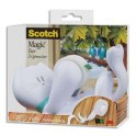 SCOTCH Dévidoir Chat Blanc livré avec 1 ruban Magic Tape de 19 mm x 7,50 m