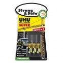 UHU Boîte antichoc de 3 mini-tubes de colle Strong and Safe de 1 g chacun