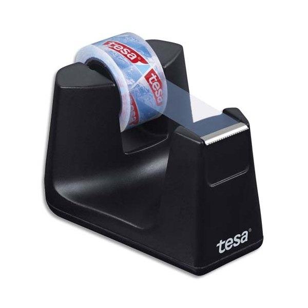 TESA Dévidoir Easy Cut Smart noir avec 1 ruban adhésif Eco & Clear 10 m x 15 mm