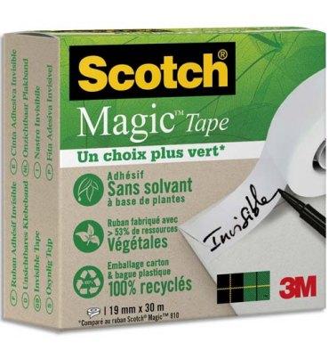SCOTCH Ruban Scotch Magic Tape Recyclé en boîte individuelle, 19 mm x 30 m