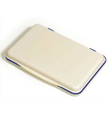5 ETOILES Tampon encreur ré-encrable ABS, pour timbre caoutchouc ou résine L11 x P7 cm encre bleue