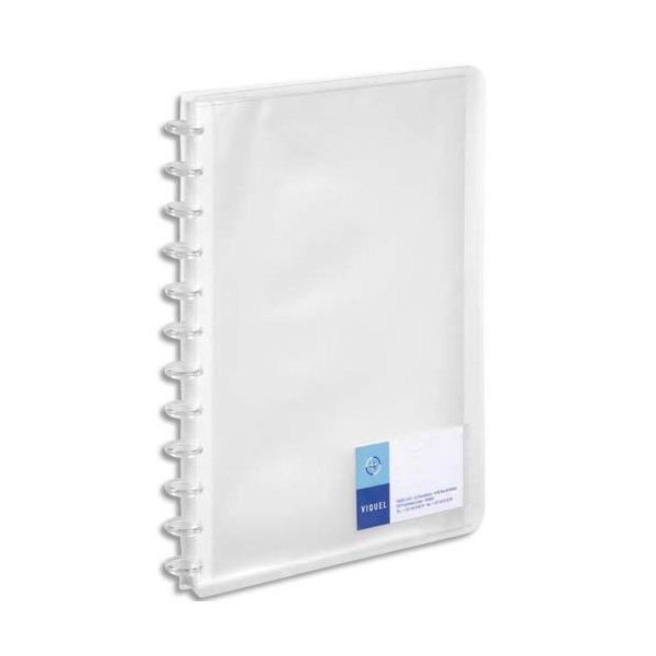 VIQUEL Protège-documents MAXI GEODE translucide, couverture personnalisable 60 vues, coloris assortis incolore