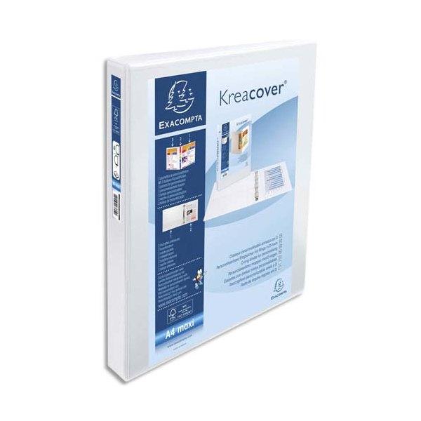 EXACOMPTA Classeur personnalisable KREACOVER 2 faces dos de 4,4 cm diamètre anneaux 30 mm