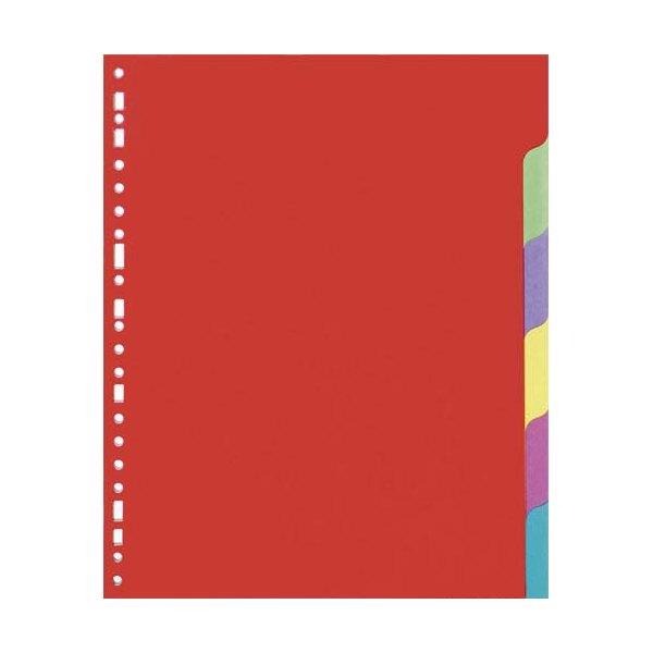 5 ETOILES Jeu d'intercalaires 6 positions en carte lustrée colorée 225g, 3/10e. Format A4