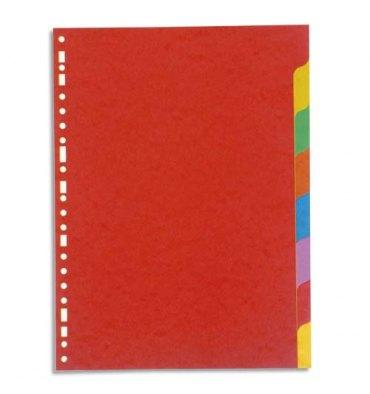 5 ETOILES Jeu d'intercalaires 8 positions en carte lustrée 225g, 3/10e. Format A4