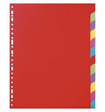 5 ETOILES Jeu d'intercalaires 12 positions en carte lustrée 220g, 3/10e. Format A4