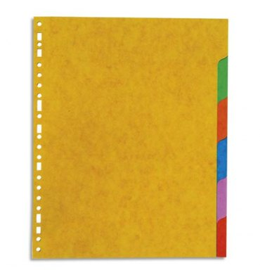 5 ETOILES Jeu d'intercalaires 6 positions en carte lustrée 225g, 3/10e. Format A4+