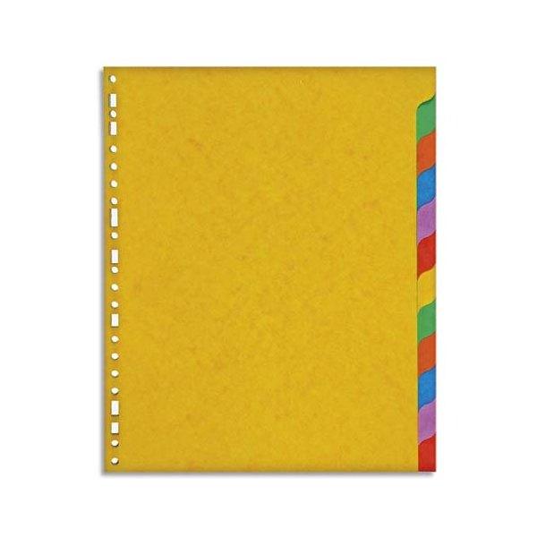 5 ETOILES Jeu d'intercalaires 12 positions en carte lustrée 225g, 3/10e. Format A4+