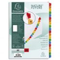 EXACOMPTA Jeu d'intercalaire 20 positions en carte blanche 170g, onglets Mylar®. Format A4
