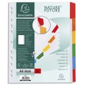 EXACOMPTA Jeu d'intercalaires 6 positions en carte blanche 170g, onglets Mylar®. Format A4+