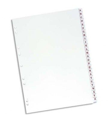 ELBA Intercalaire alphabétique 26 positions en PVC 19/100e