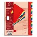 EXACOMPTA Jeu d'intercalaires numériques en polypropylène. 31 touches multicolores. Format A4+.