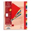 EXACOMPTA Jeu d'intercalaires alphabétiques en polypropylène. 20 touches multicolores. Format A4+.