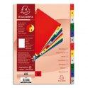EXACOMPTA Jeu d'intercalaires numériques en polypropylène. 12 touches multicolores. Format A4.