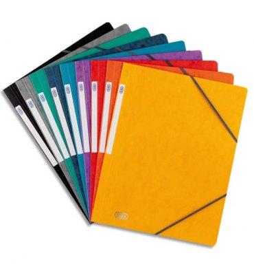 ELBA Chemises simples à élastique Topfile, en carte lustrée 5/10e, coloris assortis