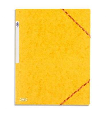 ELBA Chemise à 3 rabats et élastiques en carte lustrée TOP FILE, format A4, coloris jaune