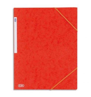 ELBA Chemise à 3 rabats et élastiques en carte lustrée TOP FILE, format A4, coloris rouge