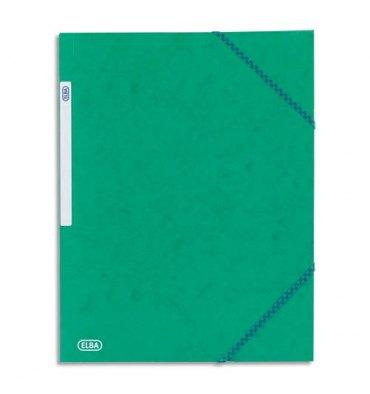 ELBA Chemise à 3 rabats et élastiques en carte lustrée TOP FILE, format A4, coloris vert