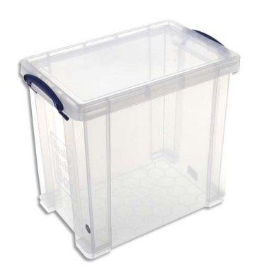 RUB Boîte de rangement 19 Litres + couvercle - Dimensions : L39,5 x H29 x P25,5 cm coloris transparent