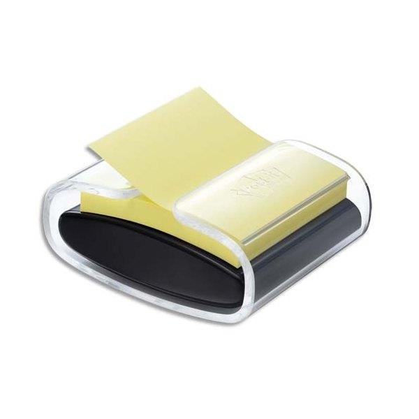 POST-IT Dévidoir Pro noir + 1 bloc Super Sticky Jaune 7,6 x 7,6 cm