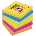 POST-IT Lot de 6 blocs SuperSticky Rio de Janeiro 76 x 76 m - Couleur assortis