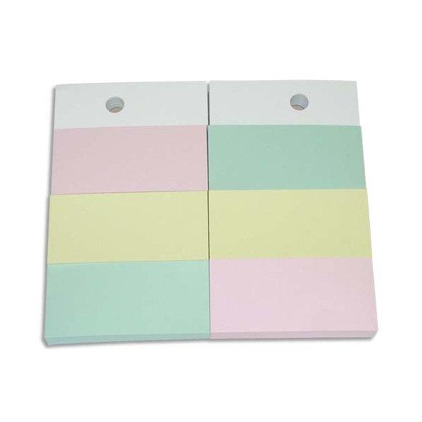 JPC Recharge 1 bloc 34 x 75 mm pour support format A6. Couleurs pastels