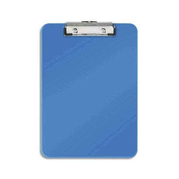 LEITZ Porte-blocs A4 bleu, crochet de suspension, capacité 75 feuilles - L22,8 x H1,7 x P32 cm