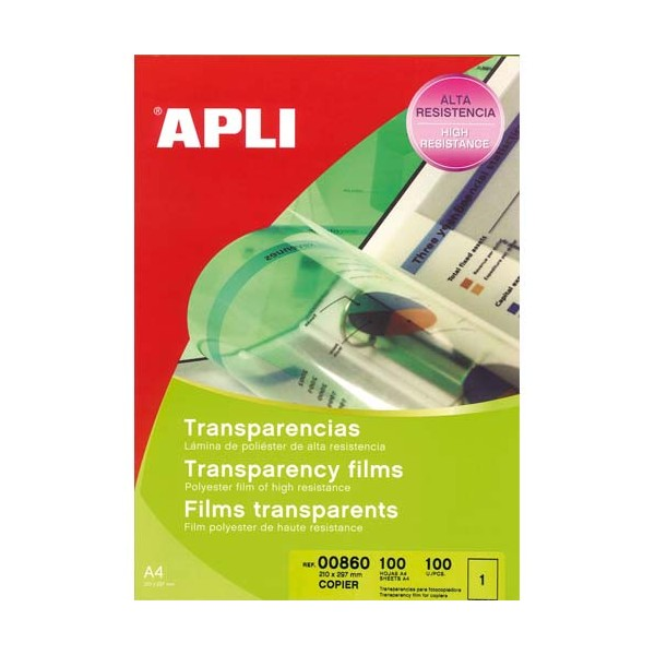 APLI Boîte de 100 film transparents pour photocopieur antistatique (photo)
