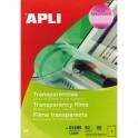 APLI Boîte de 50 film transparents pour imprimante laser Couleurs