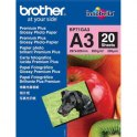 BROTHER Pack de 20 feuilles de papier photo A3