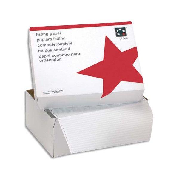5 ETOILES Boîte de 2500 paravents listing format 380 x 11 pouces 1 exemplaire blanc 60g bande caroll fixe (photo)