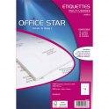 OFFICE STAR Boîte de 1600 étiquettes multi-usages blanches 99,1 x 33,9 mm OS43436
