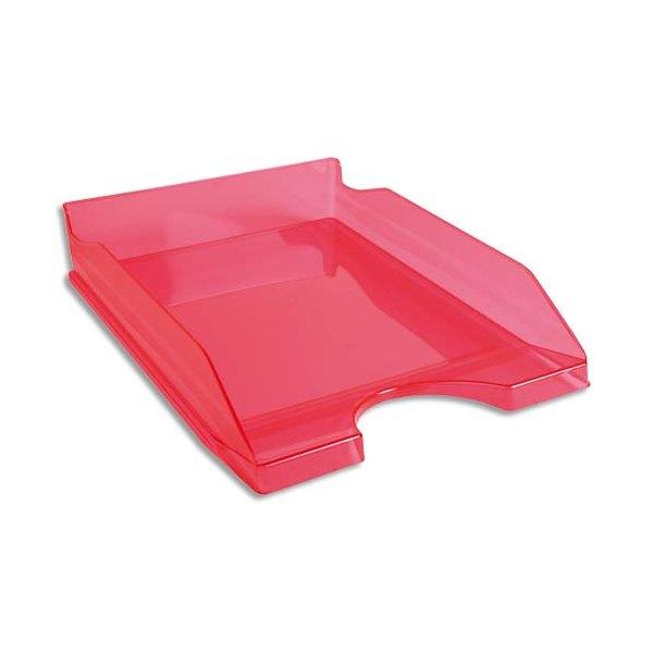 NEUTRE Corbeille à courrier ECO rose translucide - 25,5 x 6,5 x 34,5 cm