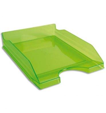 EXACOMPTA Corbeille à courrier ECO vert translucide - Dimensions : 25,5 x 6,5 x 34,5 cm
