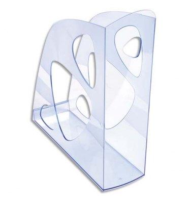 NEUTRE Porte-revues ECO bleu translucide - Dos de 7,7 cm, 25,7 x 24,8 cm