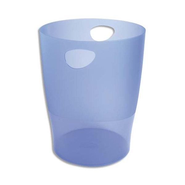 EXACOMPTA Corbeille à papier Iderama 15 L bleu translucide (photo)