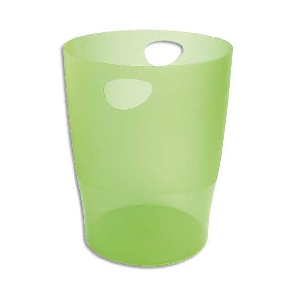 EXACOMPTA Corbeille à papier Iderama 15 L vert translucide (photo)