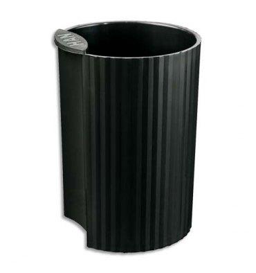 HAN Pot à crayons Loop noir en polypropylène - Diamètre 7,3 cm, Hauteur 10 cm