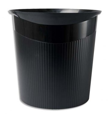 HAN Corbeille à papier Loop 13 litres - Dimensions : L29 x H28,7 x P22,6 cm coloris noir