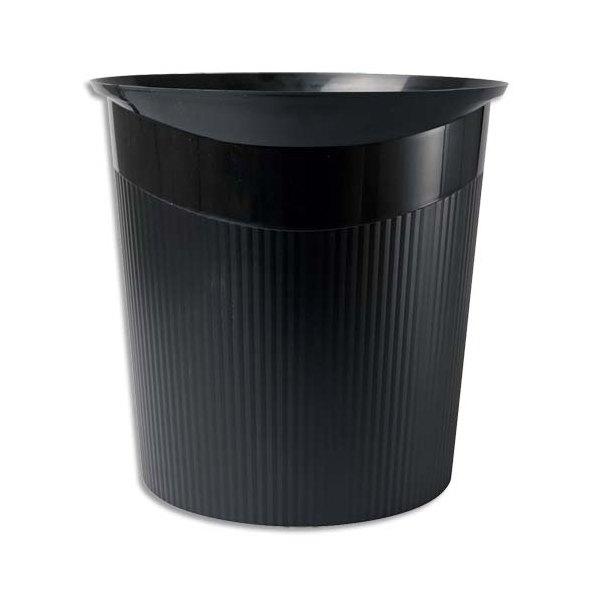 HAN Corbeille à papier Loop 13 litres - 29 x 28,7 x 22,6 cm coloris noir (photo)