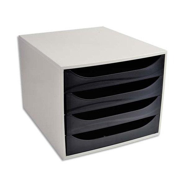 5 ETOILES Module de classement ECO gris et 4 tiroirs noirs - Polystyrène - 28,4 x 23,4 x 34,8 cm (photo)