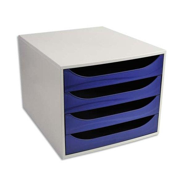 5 ETOILES Module de classement ECO gris et 4 tiroirs bleus - Polystyrène - 28,4 x 23,4 x 34,8 cm (photo)