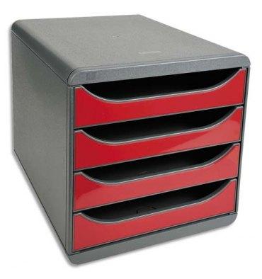 EXACOMPTA Module de classement 100% DECO rouge carmin - 27,8 x 26,7 x 34,7 cm