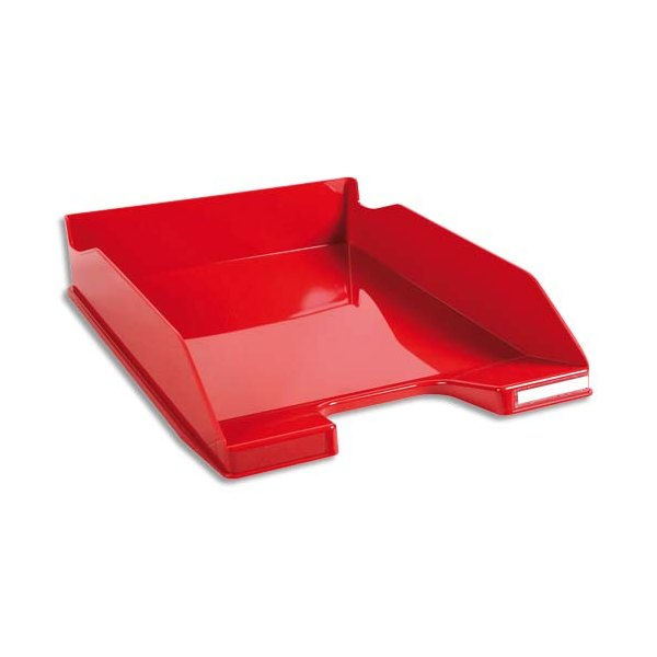 EXACOMPTA Corbeille à courrier 100% DECO rouge carmin - 25,5 x 6,5 x 34,7 cm