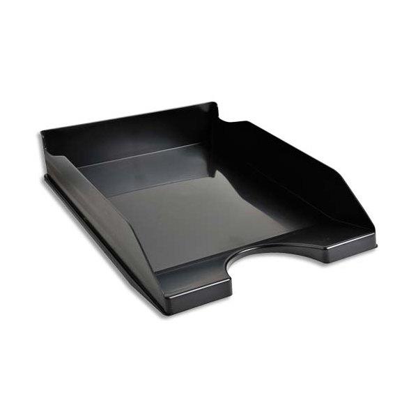 NEUTRE Corbeille à courrier noire - Polystyrène - 25,5 x 6,5 x 34,5 cm
