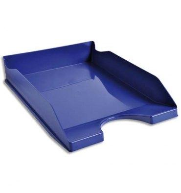 5 ETOILES Corbeille à courrier bleue - Polystyrène - Dimensions : 25,5 x 6,5 x 34,5 cm