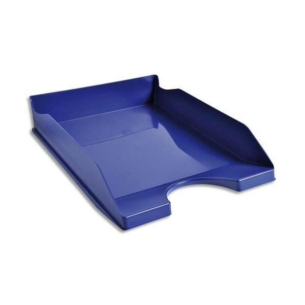 NEUTRE Corbeille à courrier bleue - Polystyrène - 25,5 x 6,5 x 34,5 cm